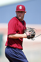 June 24, 2009:  Pitcher Nick Kirk of the Mahoning Valley Scrappers during a game at Eastwood Field in Niles, OH.  The Scrappers are the NY-Penn League Short-Season Single-A affiliate of the Cleveland Indians.  Photo by:  Mike Janes/Four Seam Images