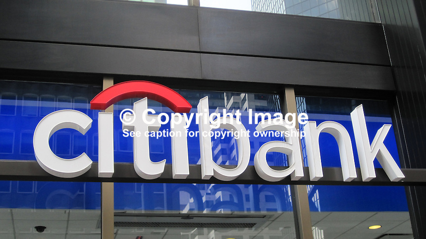 Logo, signage, Citibank, USA, 201110230176..Copyright Image from Victor Patterson, 54 Dorchester Park, Belfast, United Kingdom, UK...For my Terms and Conditions of Use go to http://www.victorpatterson.com/Victor_Patterson/Terms_%26_Conditions.html