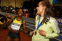 Angela Williams  and Lolo Jones. Photo by Errol Anderson, The Sporting Image.