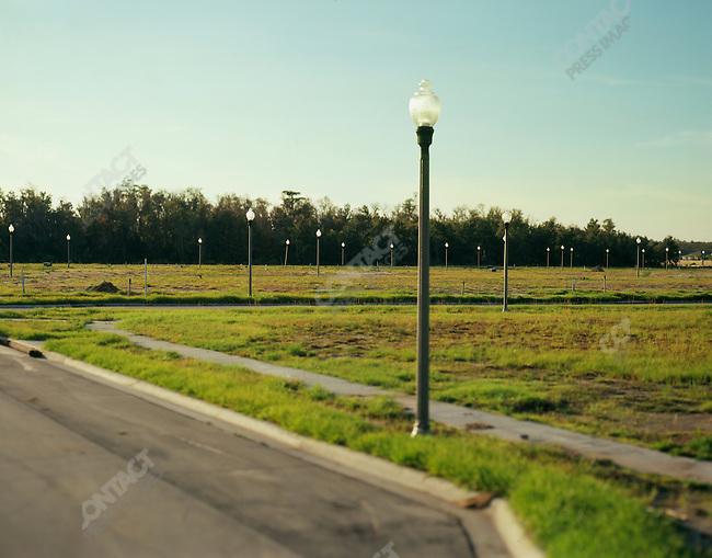 New housing development, Orlando, Florida.  June-October 2006