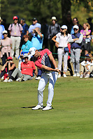 Haydn Porteous (RSA) chips into the 5th green during Saturday's Round 3 of the 2018 Omega European Masters, held at the Golf Club Crans-Sur-Sierre, Crans Montana, Switzerland. 8th September 2018.<br /> Picture: Eoin Clarke | Golffile<br /> <br /> <br /> All photos usage must carry mandatory copyright credit (&copy; Golffile | Eoin Clarke)