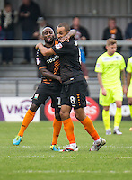 Goal!! Curtis Weston of Barnet (8) celebrates his equalising goal during the EFL Sky Bet League 2 match between Barnet and Colchester United at The Hive, London, England on the 17th September 2016. Photo by Liam McAvoy.