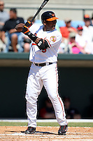 March 8, 2010:  Third Baseman Miguel Tejada (9) of the Baltimore Orioles during a Spring Training game at Ed Smith Stadium in Sarasota, FL.  Photo By Mike Janes/Four Seam Images