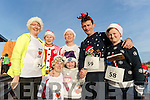 Pictured at the Santa Fun Run, in aid of Barretstown, starting from the Tralee Bay Wetlands, on Sunday last, were l-r: Eileen Walsh, Chloe Walsh, Majella Stack, Joan Keane, Margaret Cahill with John and Conor Walsh, all from Listowel.