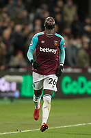 Arthur Masuaku of West Ham United during the Premier League match between West Ham United and Arsenal at the Olympic Park, London, England on 13 December 2017. Photo by Andy Rowland.