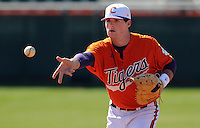 Clemson first baseman Ben Paulsen (10) prior to a game between the Charlotte 49ers and Clemson Tigers Feb. 22, 2009, at Doug Kingsmore Stadium in Clemson, S.C. (Photo by: Tom Priddy/Four Seam Images)
