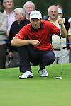 Padraig Harrington lines up his putt on 15th tee during day two of the 3 Irish Open, at the Killarney Golf and Fishing Club, Killarney, Ireland.Picture Fran Caffrey/www.golffile.ie.