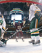 Carl Sneep (BC - 7), Corey Carlson (Vermont - 13) - The Boston College Eagles defeated the University of Vermont Catamounts 4-0 in the Hockey East championship game on Saturday, March 22, 2008, at TD BankNorth Garden in Boston, Massachusetts.