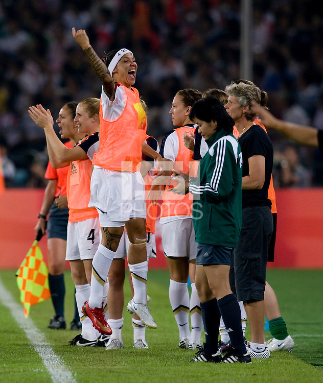 Natasha Kai.The USWNT defeated Japan, 4-2, during the semi-finals of the Beijing 2008 Olympics in Beijing, China.