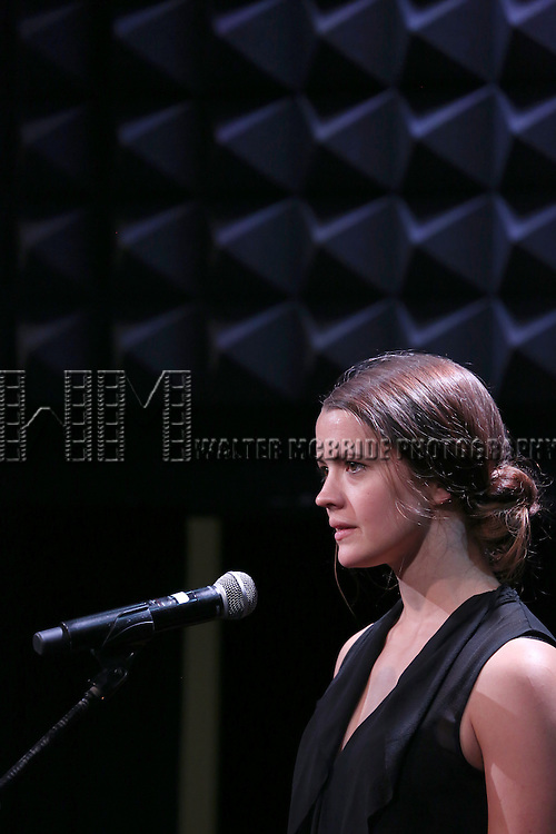 Rose Hemingway in rehearsal for 'The Lord & The Master - Broadwayworld.com sings Andrew Lloyd Webber & Stephen Sondheim'  at Joe's Pub on June 16, 2014 in New York City.