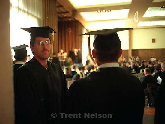 Ken Quayle at Ken's graduation.<br />