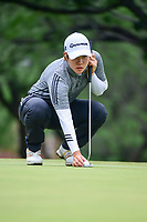 Eun Jeong Seong (KOR) lines up her putt on 2 during round 3 of  the Volunteers of America Texas Shootout Presented by JTBC, at the Las Colinas Country Club in Irving, Texas, USA. 4/29/2017.<br /> Picture: Golffile | Ken Murray<br /> <br /> <br /> All photo usage must carry mandatory copyright credit (&copy; Golffile | Ken Murray)