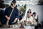Bivouac french and last quarter of Napoleon of the bicentenary of the Battle of Waterloo. <br /> Waterloo, 20 june 2015, Belgium