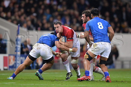 12.11.2016. Stadium Toulouse, Toulouse, France. Autumn International rugby match, France versus Samoa.  Louis Picamoles (fra) runs into tackles