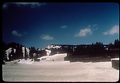 Cumbres Pass in snow with snow shed in background.<br /> D&amp;RGW  Cumbres Pass, CO