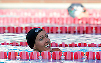 Trofeo Sette Colli di Roma, 19 giugno 2011..La svedese Therese Alshammar, vincitrice dei 50 metri farfalla donne..Seven Hills trophy in Rome, 19 june 2011..Sweden's Therese Alshammar reacts after winning the women's 50 meters butterfly..UPDATE IMAGES PRESS/Riccardo De Luca