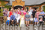 BABY JOY: Proud parents Jonathon Burrows and Leah Hamill, Hunters Wood, Tralee (seated 3rd & 4th left) of little Lola who was Christening by Fr Gerard Finucane at St John's Church, Tralee and celebrating afterwards with family and friends at the Meadowlands hotel, Tralee on Saturday.