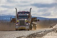 Oversize load on the Haul Road, Alaska.