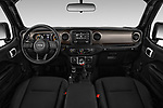 Stock photo of straight dashboard view of 2018 JEEP Wrangler Sport 3 Door SUV Dashboard