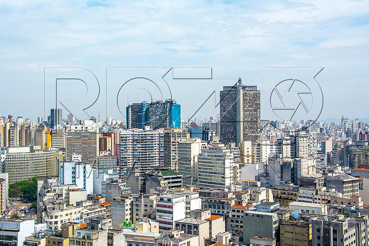 Vista de cima do centro da cidade, São Paulo - SP, 08/2016.