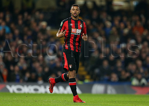 20th December 2017, Stamford Bridge, London, England; Carabao Cup quarter final, Chelsea versus Bournemouth; Lys Mousset of Bournemouth looks on