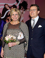 08 January 2016 - Hague, Netherlands - Princess Beatrix and Princess Laurentien and Prince Constantijn arrive for the opening of the 5th edition of the Holland Dance Festival at the Zuiderstrandtheater in The Hague. Photo Credit: PPE/face to face/AdMEdia