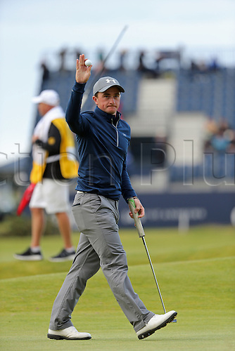 19.07.2015. Old Course, St Andrews, Fife, Scotland.  Paul Dunne (a) of Ireland in action on the 17th hole during the third round of the 144th British Open Championship at the Old Course, St Andrews in Fife, Scotland.