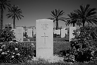 Tripoli, Libya, April 3, 2011..El Hammangi cemetery. More than 4500 commonwealth fighters from WWII are buried in the British Cemetery, beautifully maintained by the British embassy in Tripoli.