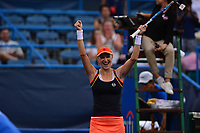 Washington, DC - August 6, 2017: Ekaterina Makarova celebrates after winning the Citi Open women's championship at the Rock Creek Tennis Center in Washington, D.C., August 6, 2017.  Makarova beat Julla Goerges during the finals match. (Photo by Don Baxter/Media Images International)