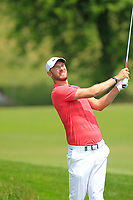 Chris Wood (ENG) on the 1st during Round 4 of the HNA Open De France at Le Golf National in Saint-Quentin-En-Yvelines, Paris, France on Sunday 1st July 2018.<br /> Picture:  Thos Caffrey | Golffile