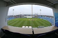 View from the media centre during Yorkshire CCC vs Essex CCC, Specsavers County Championship Division 1 Cricket at Emerald Headingley Cricket Ground on 14th April 2018