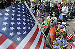 (Boston, Ma 042713) The memorial keeps growing as thousands of people stop by on Saturday, at the Boston Marathon Bombing  memorial site on Boylston Street in Boston.  (Jim Michaud Photo) for Sunday
