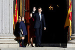 King Felipe VI of Spain, Queen Letizia of Spain and Princess Leonor of Spain attends to 40 Anniversary of Spanish Constitution at Congreso de los Diputados in Madrid, Spain. December 06, 2018. (ALTERPHOTOS/A. Perez Meca)