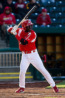 Jermaine Curtis (5) of the Springfield Cardinals at bat during a game against the Frisco RoughRiders on April 16, 2011 at Hammons Field in Springfield, Missouri.  Photo By David Welker/Four Seam Images