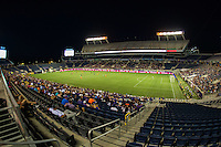 Orlando, FL - Thursday June 23, 2016: Camping World Stadium during a regular season National Women's Soccer League (NWSL) match between the Orlando Pride and the Houston Dash at Camping World Stadium.