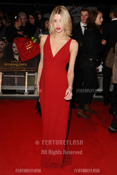 "Peaches Geldof arriving for the ""The Twilight Saga: Breaking Dawn Part 2"" premiere at the Odeon Leicester Square, London. 14/11/2012 Picture by: Steve Vas / Featureflash"