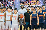 NBA basketball player LeBron James attends the Rise Academy Challenge at Southorn Stadium on 05 September 2017, in Hong Kong, China. Photo by Marcio Rodgirdo Machado / Power Sport Images