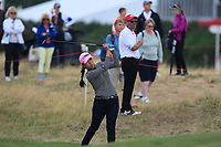 In-kyung Kim (KOR) on the 2nd fairway during Round 2 of the Ricoh Women's British Open at Royal Lytham &amp; St. Annes on Friday 3rd August 2018.<br /> Picture:  Thos Caffrey / Golffile<br /> <br /> All photo usage must carry mandatory copyright credit (&copy; Golffile | Thos Caffrey)