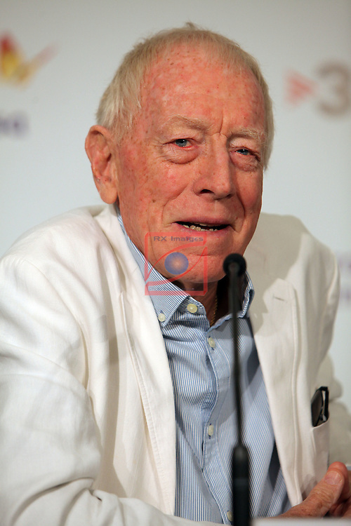 49 Festival Internacional de Cinema Fantastic de Catalunya-Sitges 2016.<br /> Press Conference Max Von Sydow.