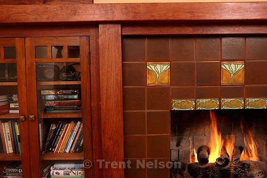 fireplace in our front room.<br />