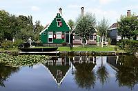 Nederland -  Zaanstad Zaanse Schans - 2019.   Huizen in Zaanse Schans.   Foto Berlinda van Dam / Hollandse Hoogte