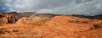 Rainbow chasing on March 1, 2014. I got poured on waiting but it was all worth it!<br /> Rainbows are certainly not as common of a thing in Utah as in Kauai.<br /> Will be available in 8x24, 12x36 SNOW CANYON STATE PARK- IVINS- ST. GEORGE, UTAH