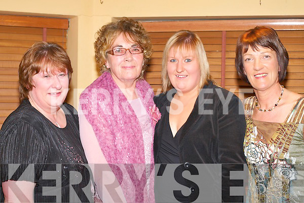 CRAIC: Enjoying the craic at the Kilcummin GAA social in the Dromhall Hotel, Killarney on Saturday night was l-r: Margaret Linehan, Mary Hutchinson, Tina Linehan and Sheila McCarthy.   Copyright Kerry's Eye 2008