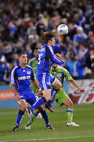 Jonathan Leathers...Kansas City Wizards were defeated 3-2 by Seattle Sounders at Community America Ballpark, Kansas City, Kansas.