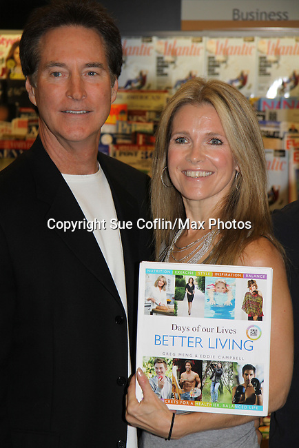 "Days Of Our Lives - Drake Hogestyn, Melissa Reeves meet the fans as they sign ""Days Of Our Lives Better Living"" on September 27, 2013 at Books-A-Million in Nashville, Tennessee. (Photo by Sue Coflin/Max Photos)"