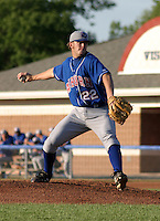 July 19, 2003:  Pitcher Josh Banks (22) of the Auburn Doubledays, Class-A affiliate of the Toronto Blue Jays, during a game at Dwyer Stadium in Batavia, NY.  Photo by:  Mike Janes/Four Seam Images