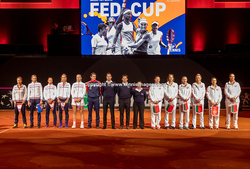 The Hague, The Netherlands, Februari 7, 2020,    Sportcampus, FedCup  Netherlands -  Balarus, Team presentation<br /> Photo: Tennisimages/Henk Koster