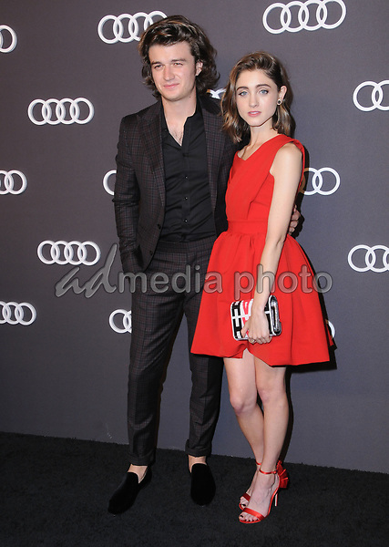13 September  2017 - Hollywood, California - Joe Keery, Natalia Dyer. Audi Celebrates the 69th Emmys held at The Highlight Room in Hollywood. Photo Credit: Birdie Thompson/AdMedia