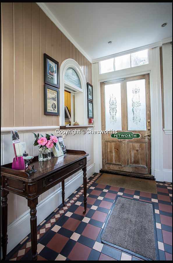 BNPS.co.uk (01202 558833)<br /> Pic: Chesworths/BNPS<br /> <br /> The station house.<br /> <br /> An ornate 19th century railway station built just so the then Prince of Wales could go on weekend jaunts to the races has gone on sale for £1.5 million. <br /> <br /> It is 50 years since the last train departed from Petworth Railway Station, which has since been converted into an 11-bed luxury bed and breakfast. <br /> <br /> And this is because almost nobody other than the future King Edward VII had any call to use it.