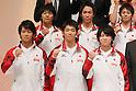 (L to R) Yusuke Tanaka (JPN), Koji Yamamuro (JPN), Kazuhito Tanaka (JPN), Makoto Okiguchi (JPN), Kohei Uchimura (JPN), Kenya Kobayashi (JPN), September 12, 2011 - Artistic Gymnastics : Kohei Uchimura attends press conference in Tokyo, Japan, regarding the Artistic Gymnastics World Championships 2011 Tokyo. (Photo by Yusuke Nakanishi/AFLO SPORT) [1090]